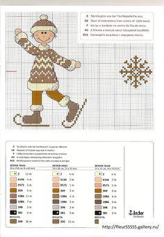 ru / Фото - Rico 113 - Boy on skates Just Cross Stitch, Cross Stitch Needles, Cross Stitch Baby, Cross Stitching, Cross Stitch Embroidery, Embroidery Patterns, Cross Stitch Designs, Cross Stitch Patterns, Stitch Witchery