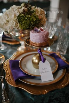 Montreal Wedding from Tim Chin Photography + Unity Weddings Mini Wedding Cakes, Wedding Cakes With Cupcakes, Cupcake Cakes, Mini Cakes, Wine Theme Cakes, Themed Cakes, Wine Glass Favors, Alternative Wedding Inspiration, Purple Plates