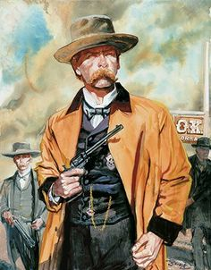 """Although he painted """"Wyatt Earp Behind the O.K. Corral (above) and had an early obsession with Wyatt, Bob Boze Bell is more a fan of Billy the Kid. (Image courtesy Bob Boze Bell)"""