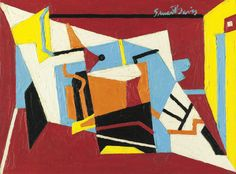 "davis, stuart study for ""hot still- | abstract | sotheby's n09148lot789c7en"