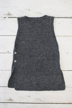 Linnea Tunic Knitting pattern by Stella Ackroyd - Inspired by my recent trip to Sweden, this useful vest is named after the wonderful botanist Carl L - Knit Vest Pattern, Knit Patterns, Christmas Knitting Patterns, Moss Stitch, Dress Gloves, Yarn Brands, Knit Crochet, Long Sleeve Tees, Carl Linnaeus