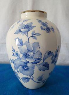 Villeroy & Boch Vase Porzellan_15 cm_handbemalt Goldrand