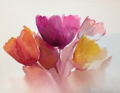 Bunch Floral Original Watercolor painting by by srirao on Etsy
