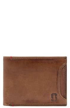 Jack Mason Brand 'Campus - Stanford Cardinal' Leather Wallet with Removable Card Case
