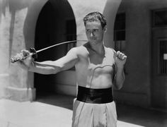 "Errol Flynn en ""El Capitán Blood"", 1935"
