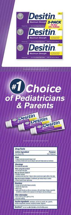 3 Tubes Desitin Maximum Strength baby cream rash 14.4 Ounces 4.8 Ounces Each