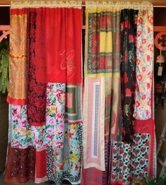 Affable understood bohemian chic home Tis the Season. Gypsy Curtains, Drapes Curtains, Patchwork Curtains, Bedroom Curtains, Gypsy Decor, Bohemian Decor, Plywood Furniture, Hollywood Regency, Boho Chic