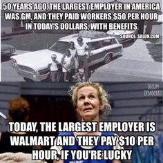 What the Reagan Revolution did for you. #workerpay