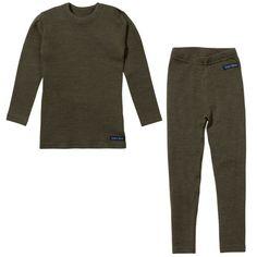 Ella's Wool Base Layer Set (Green). No more cold kids! ❄️