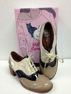 Jeffrey Campbell williams Taupe/cappuccino Black Shoes Size 7 (7482) #JeffreyCampbell #Oxfords