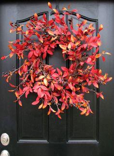 Cozy Autumn Inspiration | Stunning, yet Simple Fall Door Wreath