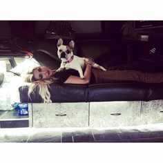 "Emma Slater on Instagram: ""Back on the bus for cuddles #PetuniaOnTour"""