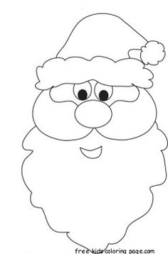 Christmas Santa Face coloring pages