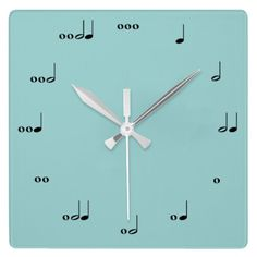The Original Music Note Clock... I need to get one of these for the hubby!!