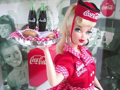 barbie, coca-cola, vintage