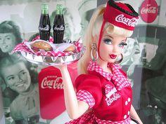 barbie, coca-cola, vintage
