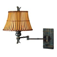 Kenroy Home Kwai 11-in W 1-Light Bronze Heritage Arm Hardwired Wall Sconce