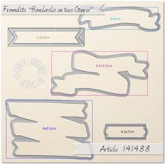 Coul'Heure Papier: Framelits Stampin'Up! [Dimensions]
