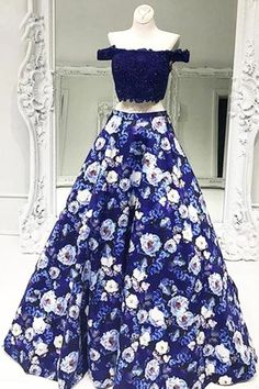 Evening Dress Black Evening Dress Blue Cheap Prom Dress Evening Dress Long Prom Dress Two Piece Prom Dresses Long Navy Blue Prom Dresses, Prom Dresses 2018, A Line Prom Dresses, Cheap Prom Dresses, Dress Prom, Pattern Prom Dresses, Bridesmaid Dress, Two Piece Evening Dresses, Evening Dress Long