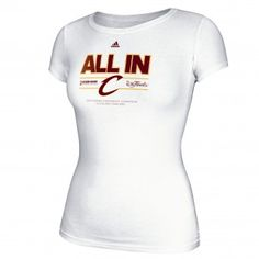 Adidas Cleveland Cavaliers Womens All About Team Locker Room Conference Champion T-Shirt (White)