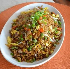 This vegetable fried rice is not just for vegetarians!, Our vegetable fried rice recipe uses a mushroom dark soy sauce adding rich color and great flavor! Wok Recipes, Rice Recipes, Veggie Recipes, Asian Recipes, Cooking Recipes, Healthy Recipes, Ethnic Recipes, Good Vegetarian Recipes, Cooking Rice