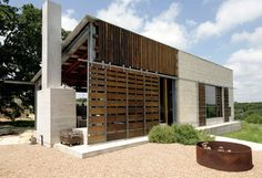 Mell Lawrence Architects: Hill Country Home Office