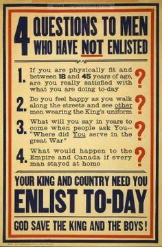 Werbung für englische Armee WW I