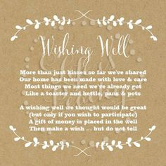 wishing well poems google search