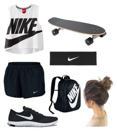 """""""Skate Park"""" by giuliaaq on Polyvore featuring NIKE"""
