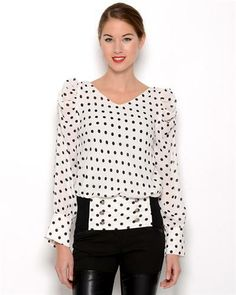 Gracia Polka Dot Chiffon Blouse