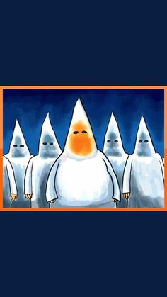 """If you're uncomfortable talking about racism, while it's still OBVIOUSLY a big problem in America, take off your Klan hood and be recognized. Trump Cartoons, Political Cartoons, Dark Art Drawings, Good Morning Funny, Dumb And Dumber, Donald Trump, Bad Candy, Funny Pictures, Politics"