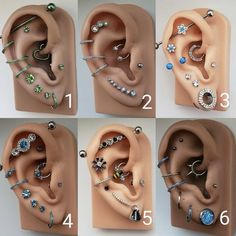 Ear Piercings Chart, Pretty Ear Piercings, Types Of Ear Piercings, Ear Peircings, Facial Piercings, Ear Jewelry, Body Jewelry, Jewellery, Ohrknorpel Piercing