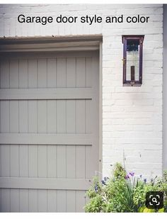 55 Trendy ideas for exterior brick house colors paint doors - Home & DIY Brick House Colors, White Brick Houses, Exterior Paint Colors For House, Paint Colors For Home, Exterior Colors, Exterior Design, Siding Colors, Garage Door Colors, Garage Door Paint