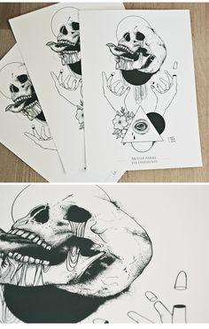 -MOISIR PARMI LES OSSEMENTS-Imprimerie d'art Paper Munken 300gr .29,7 x 42 cmA3Signée et numérotée -15ex
