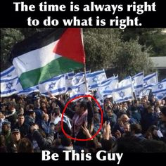 Palestinian man raises the Palestinian flag during an israeli demonstration in tel aviv. Strongest Palestinian flag I've ever seen. Elie Wiesel, Heiliges Land, Political Junkie, Arab World, Israel Palestine, Shocking Facts, United We Stand, Do What Is Right, Oppression