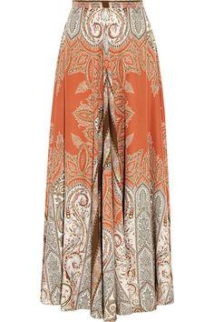 Etro | Printed silk-crepe maxi skirt | NET-A-PORTER.COM