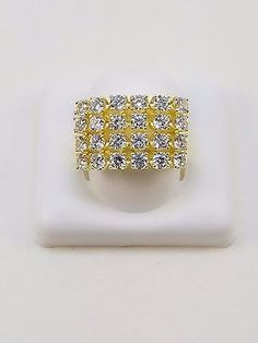 Men's 14k Gold Plated Micro-Pave Iced Out Cubic Zirconia  ring