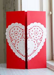 Image result for handmade valentine cards using heart doily