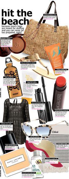Beach bag essentials! #summer #fashion #beauty