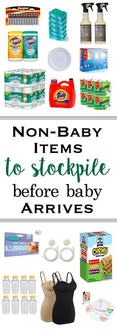Baby products aren't the only items you'll want to stockpile before the arrival of your baby. Non-baby items are often items new parents forget to stock-up on before bringing baby home. Here is a list of items to stockpile to ensure a smooth postpartum experience!