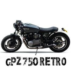 Kawasaki GPZ750 Retro Scrambler. An ultra cool retro scrambler, stylishly transformed from kawasaki's 1980's iconic sports bike. A Ragged Moto production.