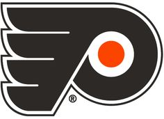 Philadelphia Flyers Primary Logo (2000) - A black P-Wing with an orange circle in the middle