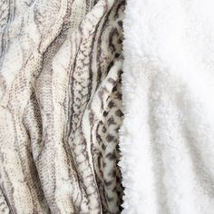 Nottingham Home Reversible Fleece Full/queen Blanket In Grey/beige - Nottingham Home's Reversible Fleece Blanket offers twice the comfort and coziness with a reverse side made of luxurious Sherpa. This stylish throw adds an extra layer of warmth on the sofa or bed that you will love on those cold winter nights.