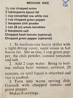 Rice Recipes, Side Dish Recipes, Vegetable Recipes, Mexican Food Recipes, Cooking Recipes, Spanish Dishes, Mexican Dishes, Rice Side Dishes, Rice Pasta