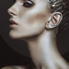 Blue CZ Black Gold Flower Ring - fashion #womenringsjewellry #fashion #women #rings #jewellry
