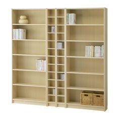 BILLY/BENNO Regalkombination - Birkenfurnier  - IKEA
