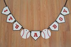 Baseball It's a Boy Banner - Baseball theme - Baseball Baby Shower - Baseball…