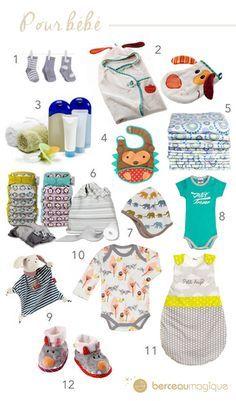 Le trousseau de naissance de bébé dans la valise de maternité