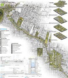 Galeria de Diagramação de pranchas de concursos: o que fazer e o que evitar - 2 Architecture Presentation Board, Architecture Board, Landscape Architecture, Landscape Design, Urban Design Diagram, Urban Design Plan, Parque Linear, Master Plan, Photoshop