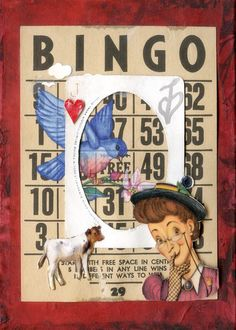 Love the Old Maid image; Bingo Board, Printable Vintage, Vintage Cards, Mixed Media Art, Altered Art, Collage Art, Maid, Card Ideas, Upcycle